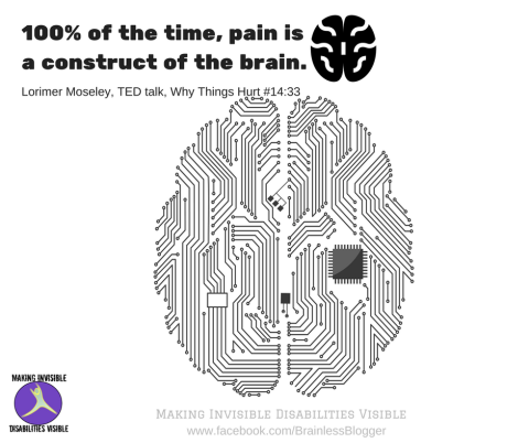 pain is a construct of the brain