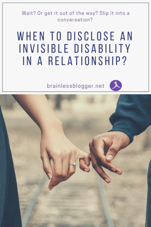 When to disclose and illness in a relationship