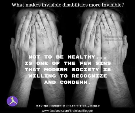 Not to be healthy society is willing to condemn