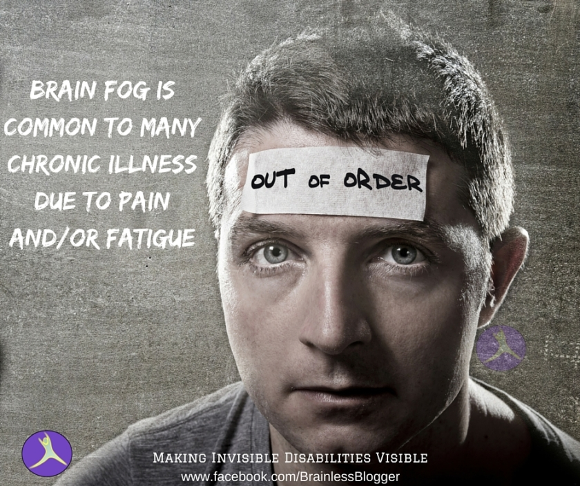 Brain fog is common to many chronic illness due to pain and_or fatigue