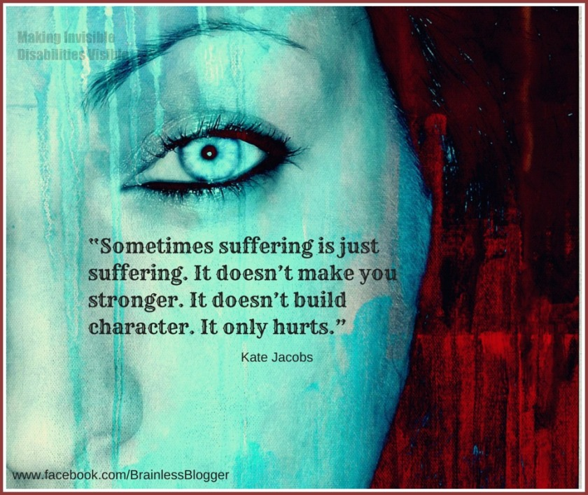 Sometimes suffering does not build character. It only hurts