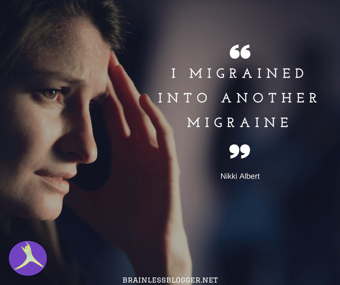 I migrained into another migraine