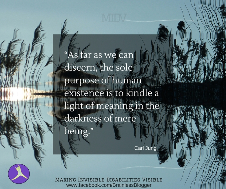 light of meaning in the mere darkness of being