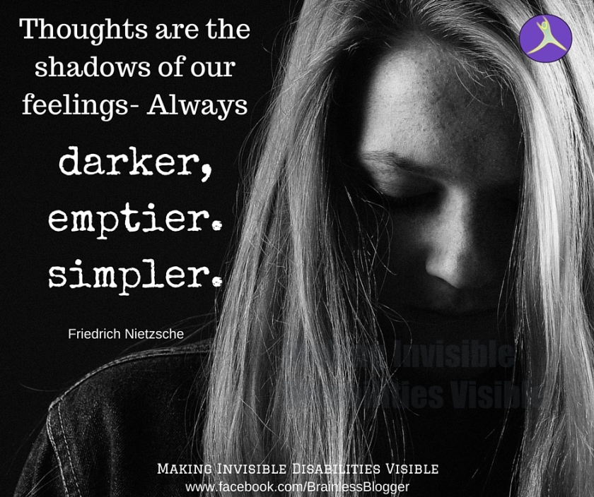 Thoughts are shadows of our feelings-always, darker, simpler