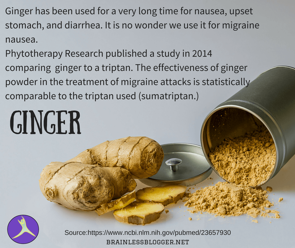 Ginger for migraine
