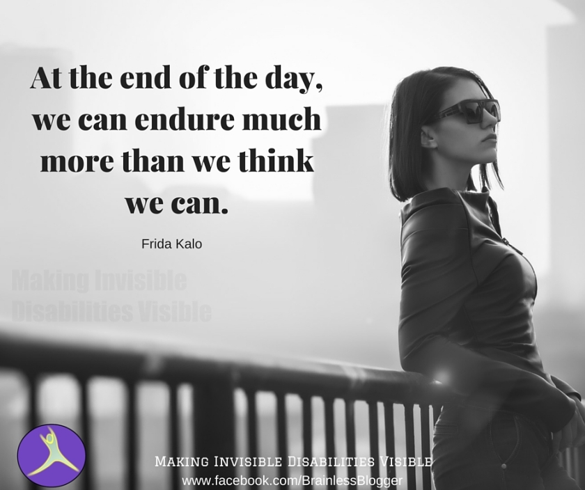 At the end of the day, we can endure much more than we think we can.