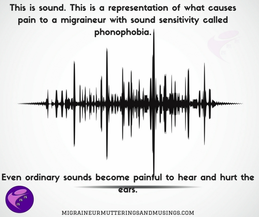 This is sound. This is a representation of what causes pain to a migraineur with sound sensitivity called phonophobia.