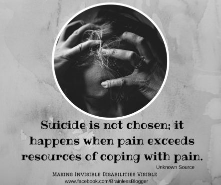 Suicide is not chosen