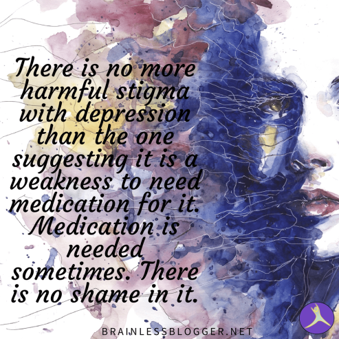 Medication stigma depression