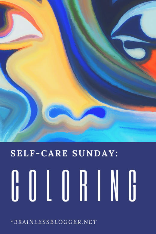 Self-care hobby coloring