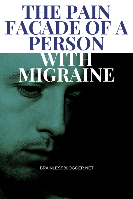 The pain facade of a person with migraine