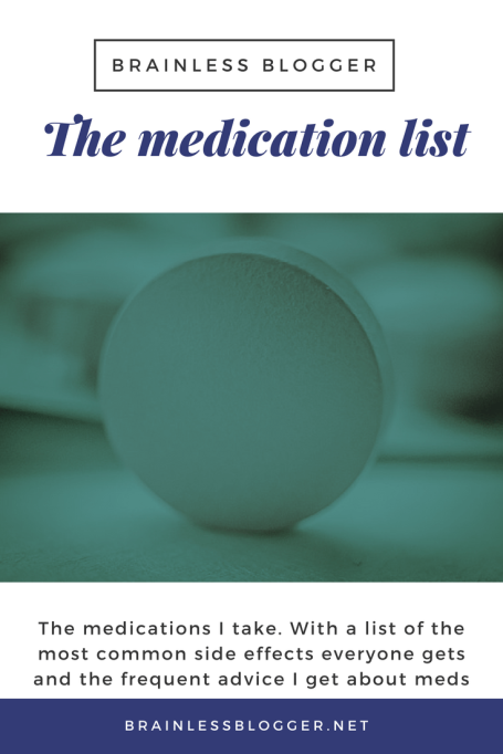 The medication list