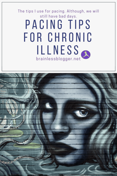 Pacing tips for chronic illness