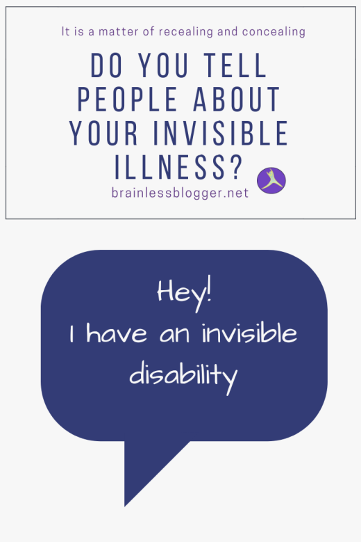 Do you tell people about your invisible illness?