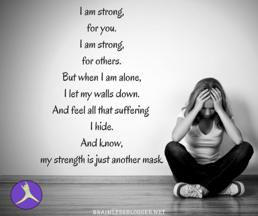 I am strong,for you.I am strong,for others.