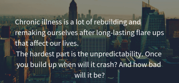 Chronic illness rebuilding and remaking ourselves