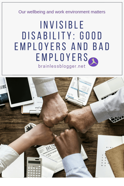 Invisible disability: good employers and bad employers
