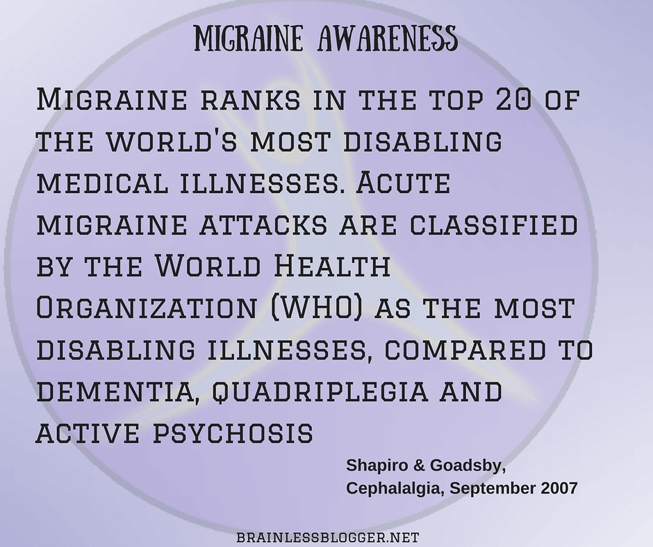 Migraines are disabling