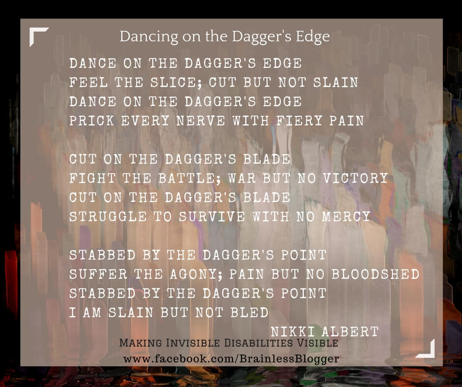Poem-dancing on daggers edge