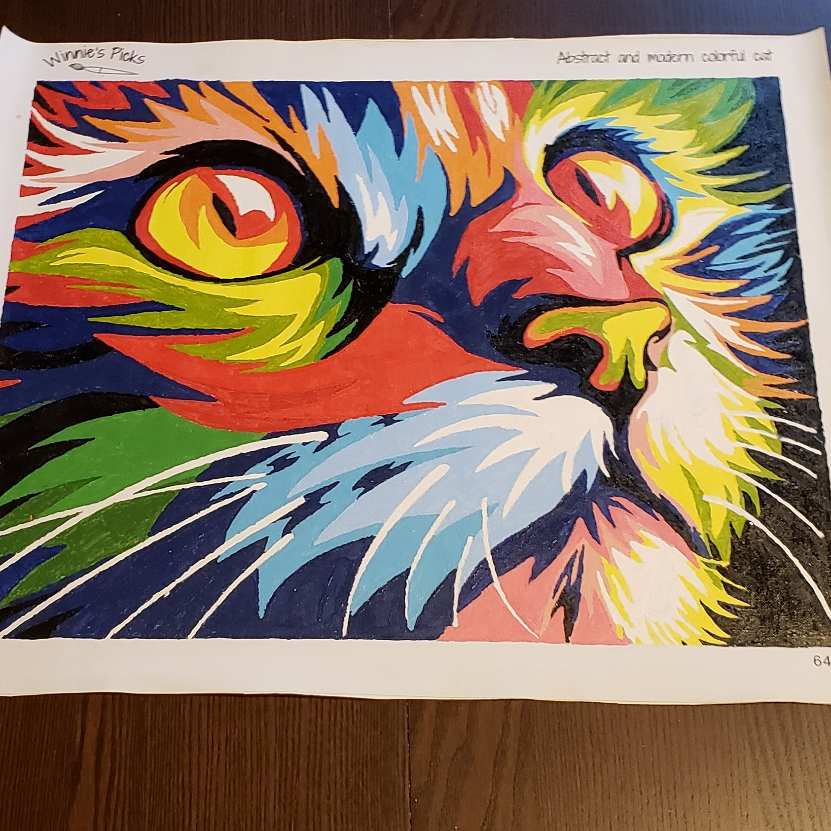 Winnie's Picks abstract cat finished