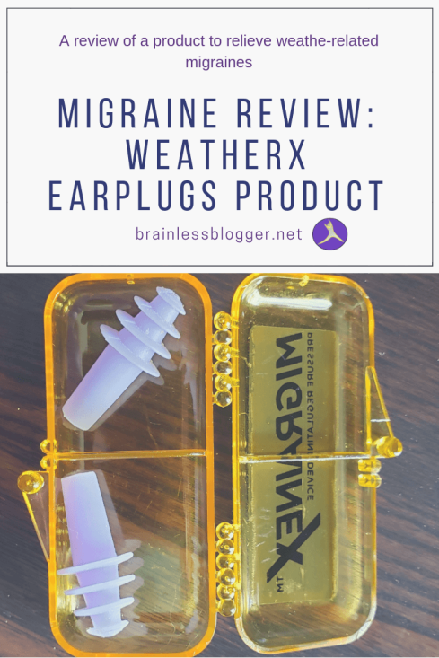 Migraine review: WeatherX Earplugs product