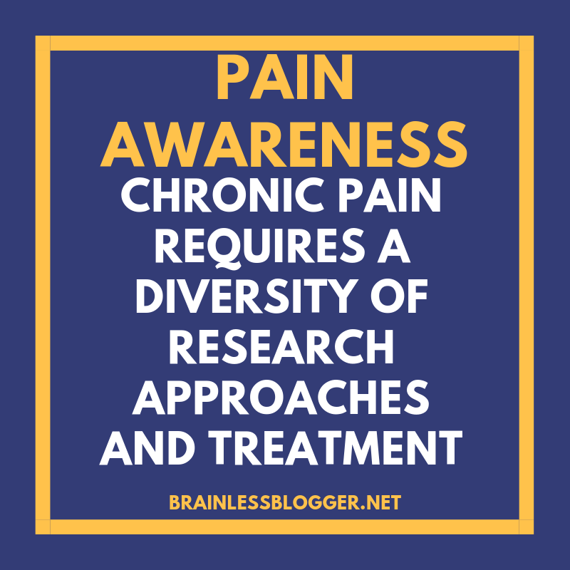 Pain requires a diversity in treatment
