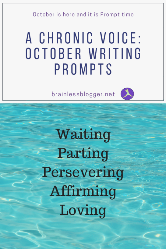 A chronic voice: October writing prompts