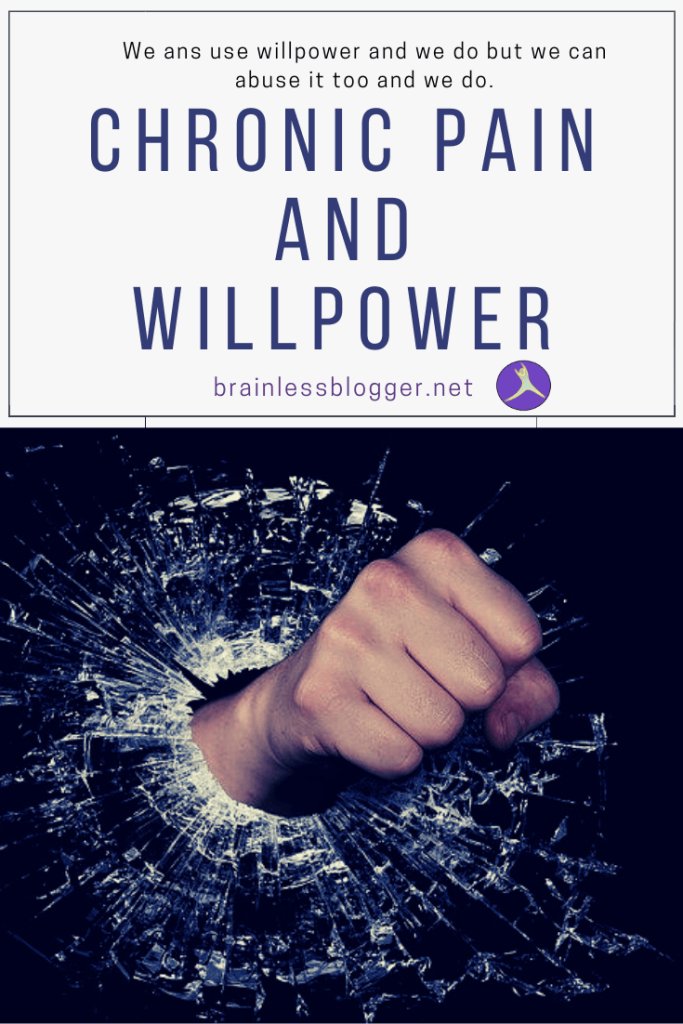 Chronic pain and willpower
