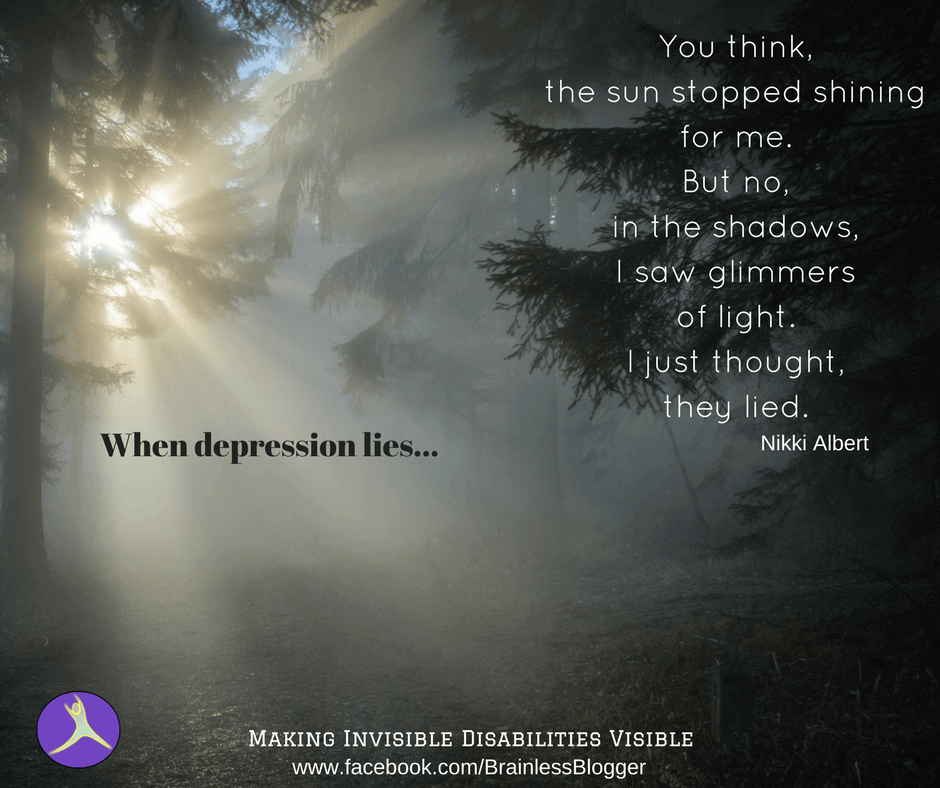 When depression lies