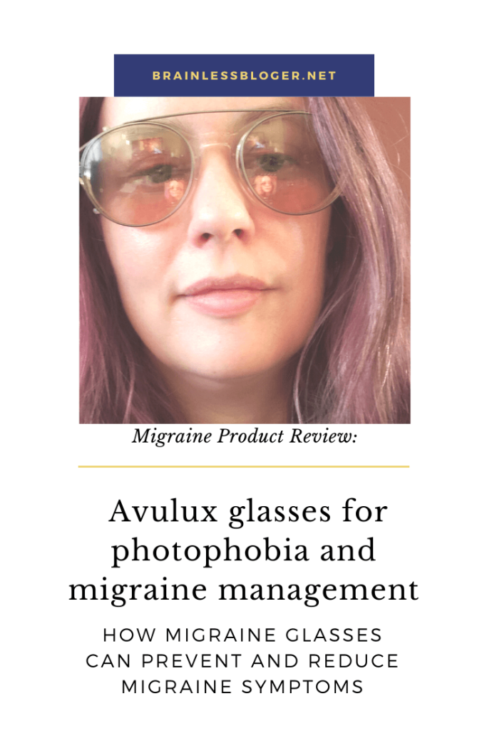 Avulux glasses for photophobia and migraine management